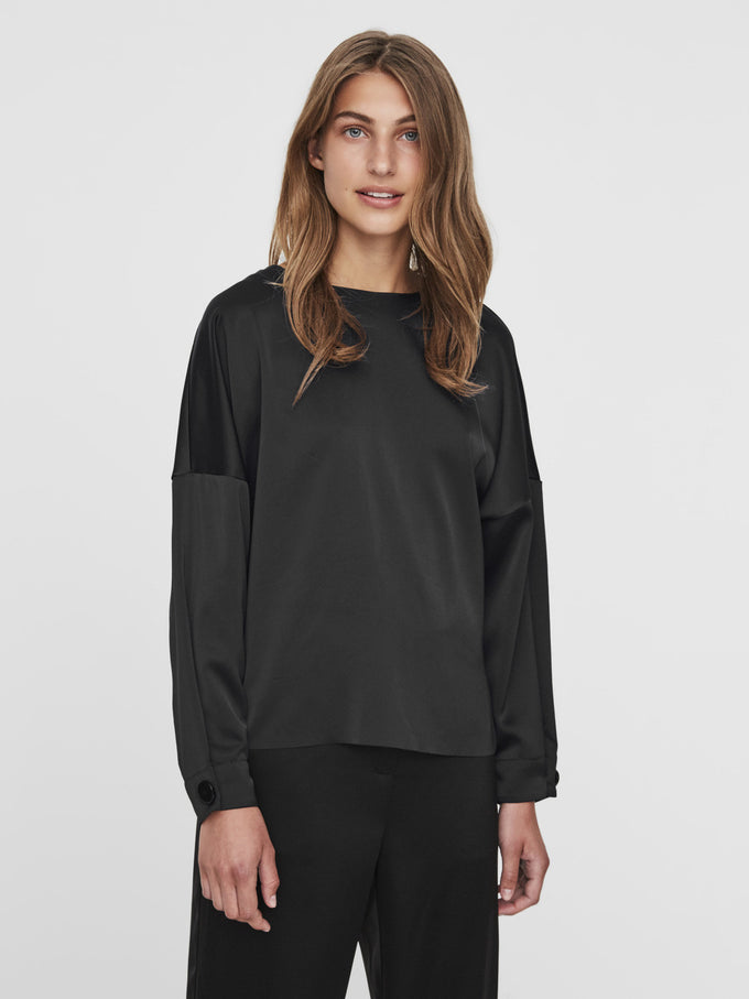 DOLMAN SLEEVE BLOUSE BLACK
