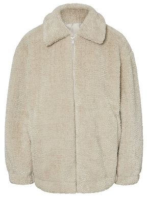 SOFT OVERSIZED TEDDY JACKET