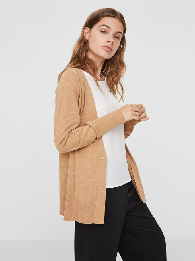 SOLID CARDIGAN TAN