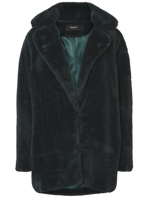 3/4 GREEN FAUX-FUR JACKET