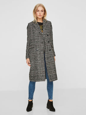 LONG CHECKERED COAT