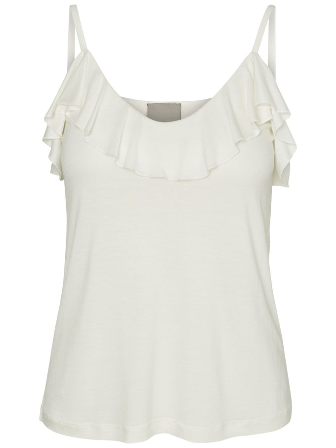 FRILLED CAMI SNOW WHITE