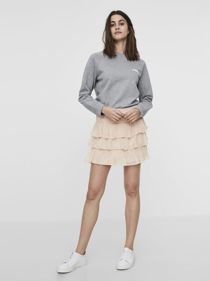 RUFFLED SHORT SKIRT CAMEO ROSE