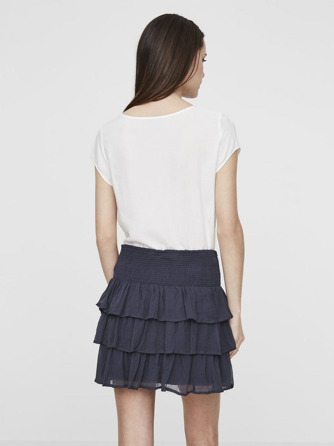 RUFFLED SHORT SKIRT OMBRE BLUE