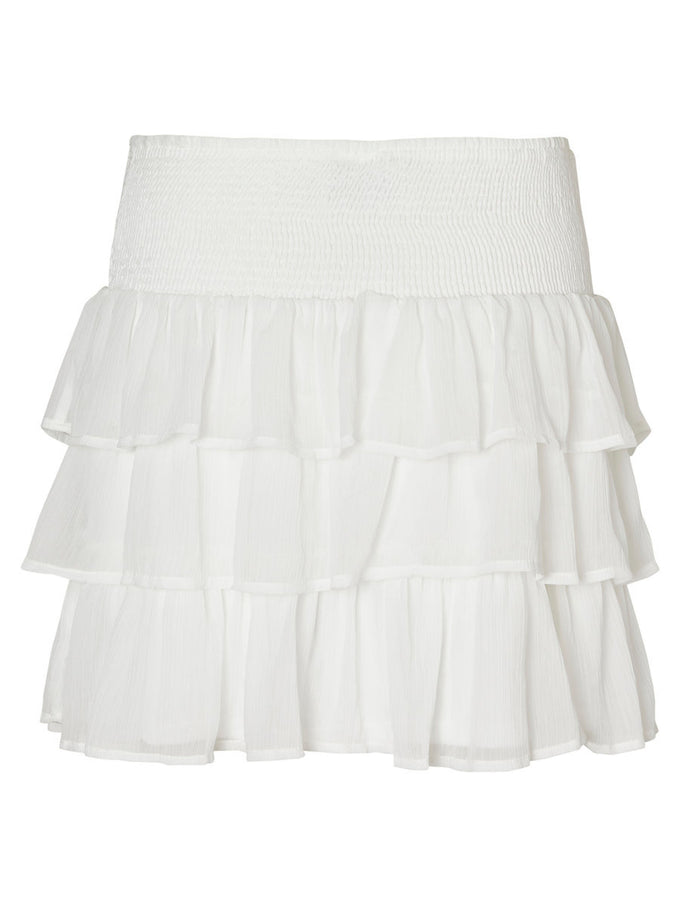 RUFFLED SHORT SKIRT SNOW WHITE