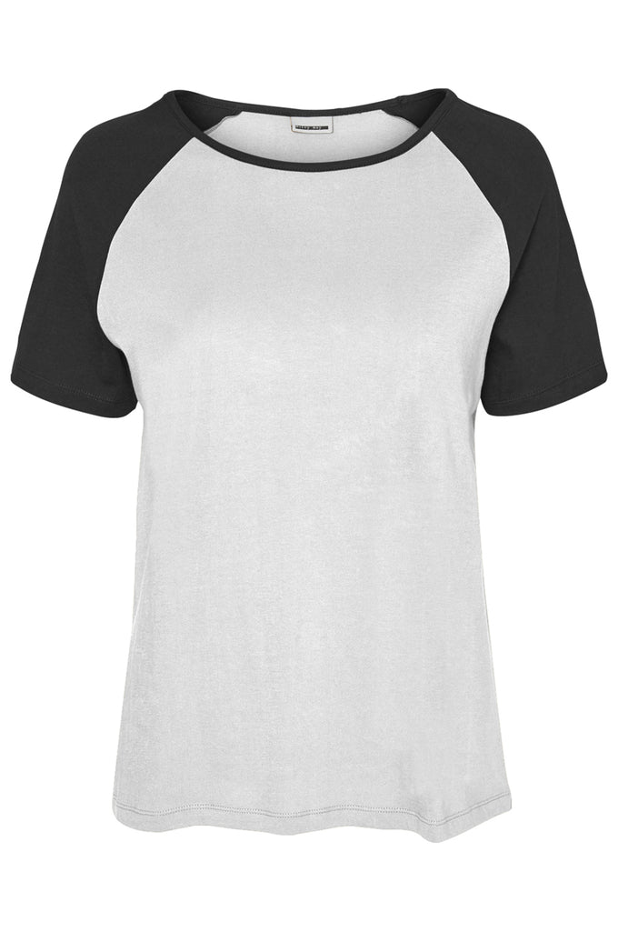 RAGLAN SLEEVE T-SHIRT BRIGHT WHITE