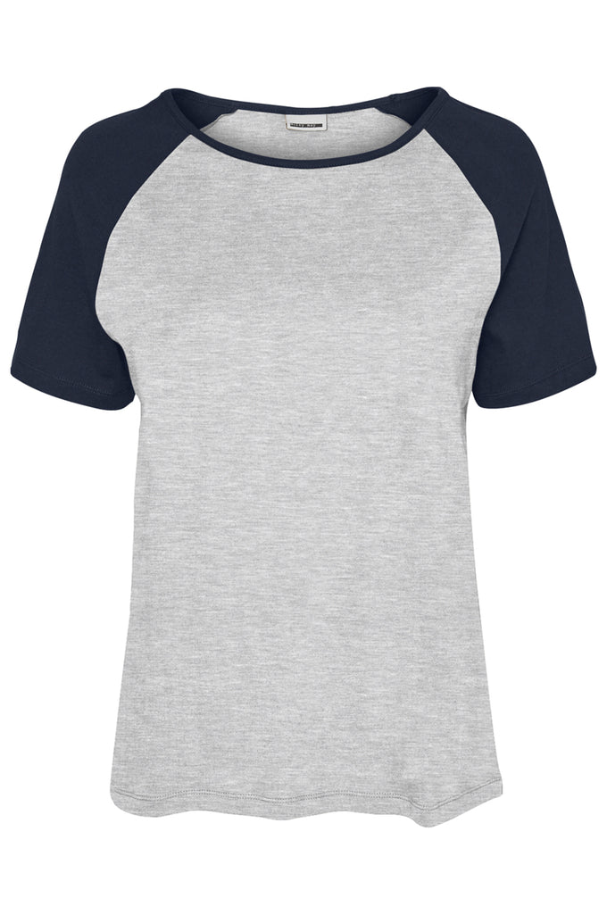 RAGLAN SLEEVE T-SHIRT LIGHT GREY MELANGE