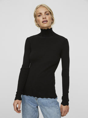RIBBED THIN SWEATER