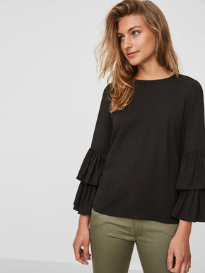 DOUBLE FRILLS BLOUSE