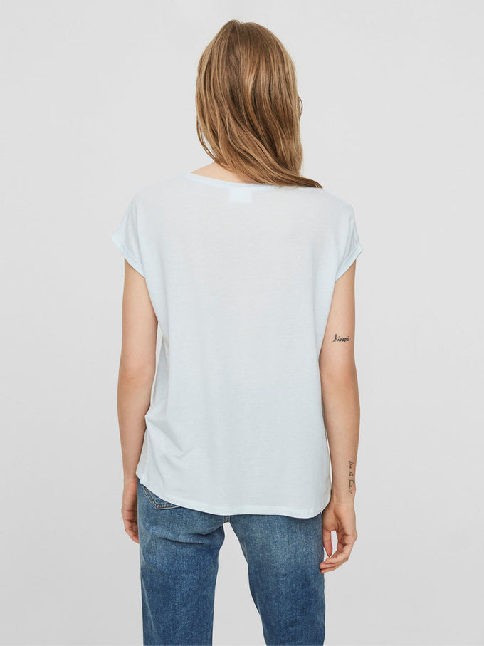 LIGHT LYOCELL T-SHIRT BALLARD BLUE