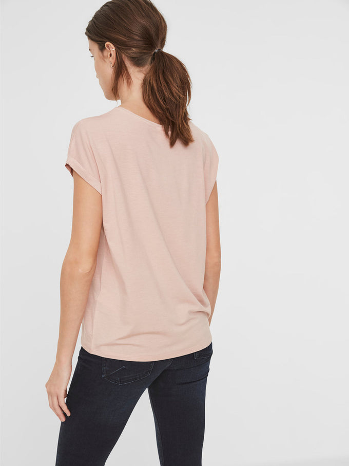 LIGHT LYOCELL T-SHIRT MISTY ROSE