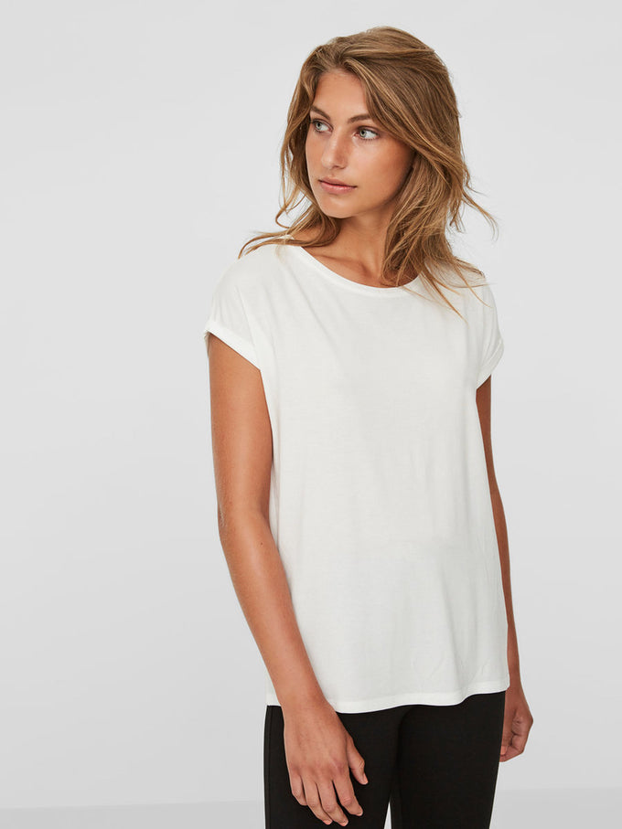 LIGHT LYOCELL T-SHIRT SNOW WHITE