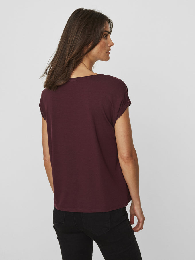 AWARE | T-shirt Ava ROUGE VIN