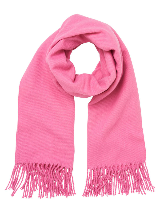 FOULARD LONG COLORÉ ROSE