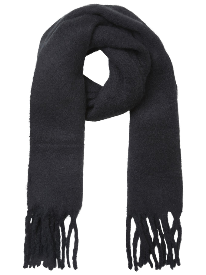 FOULARD LONG COLORÉ NOIR