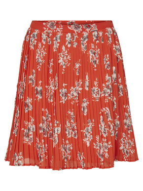 SHORT PRINTED PLEATED SKIRT
