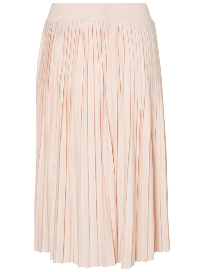 PLEATED JERSEY SKIRT CAMEO ROSE