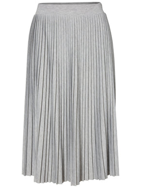 PLEATED JERSEY SKIRT