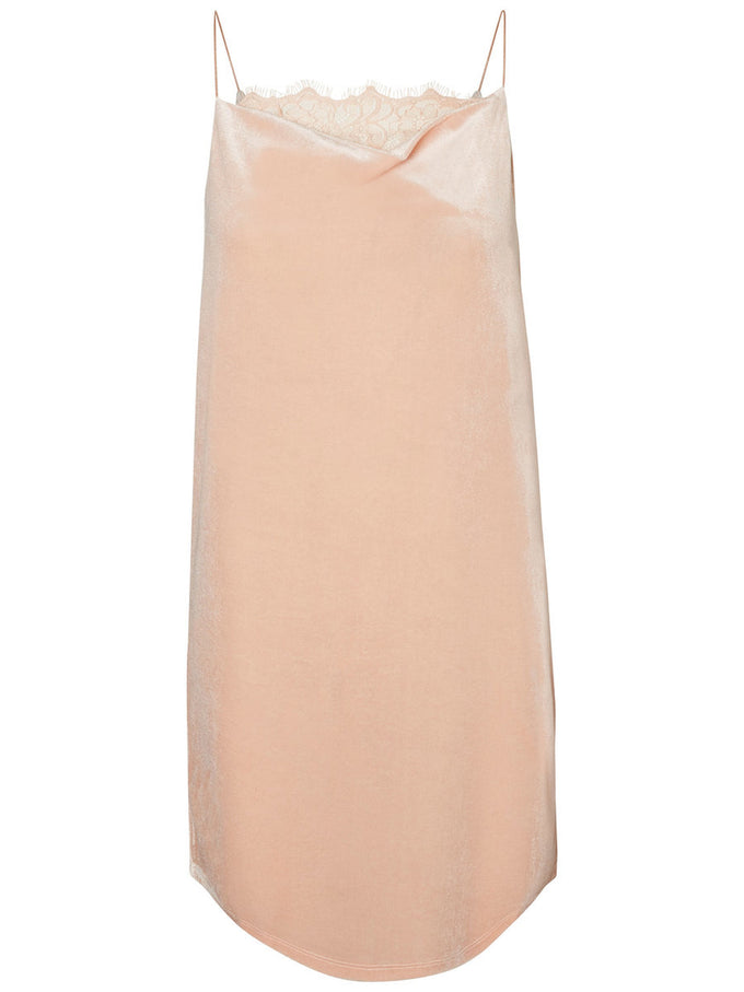 FEMININE VELVET DRESS ROSE CLOUD