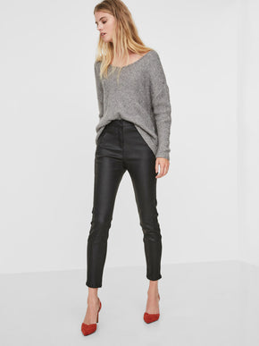 SKINNY FIT COATED ANKLE PANTS