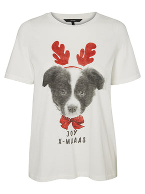 CUTE CHRISTMAS PRINT T-SHIRT