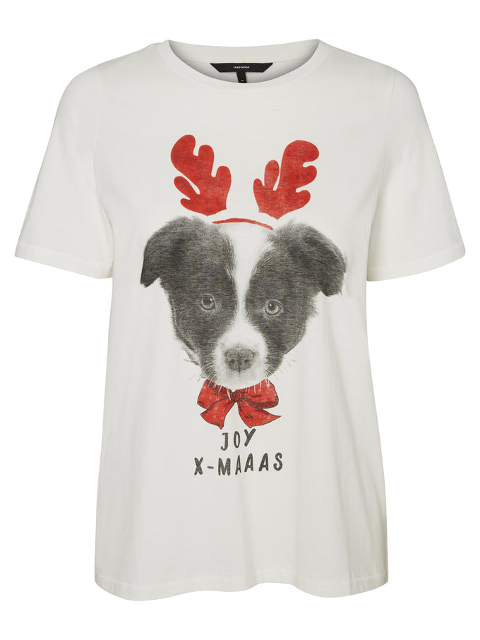 CUTE CHRISTMAS PRINT T-SHIRT SNOW WHITE