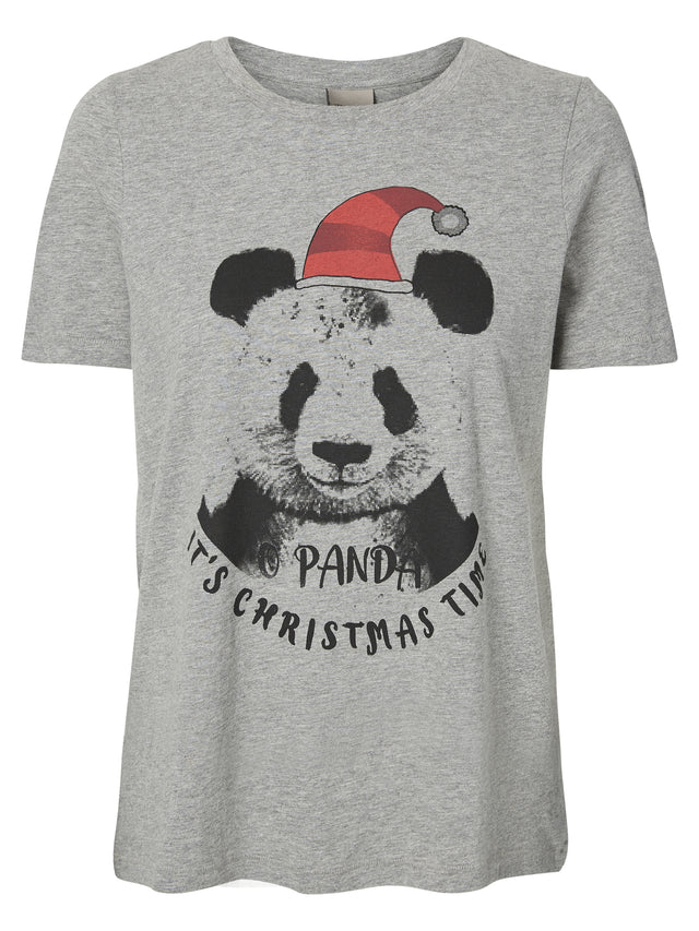 LIGHT GREY MELANGE PANDA