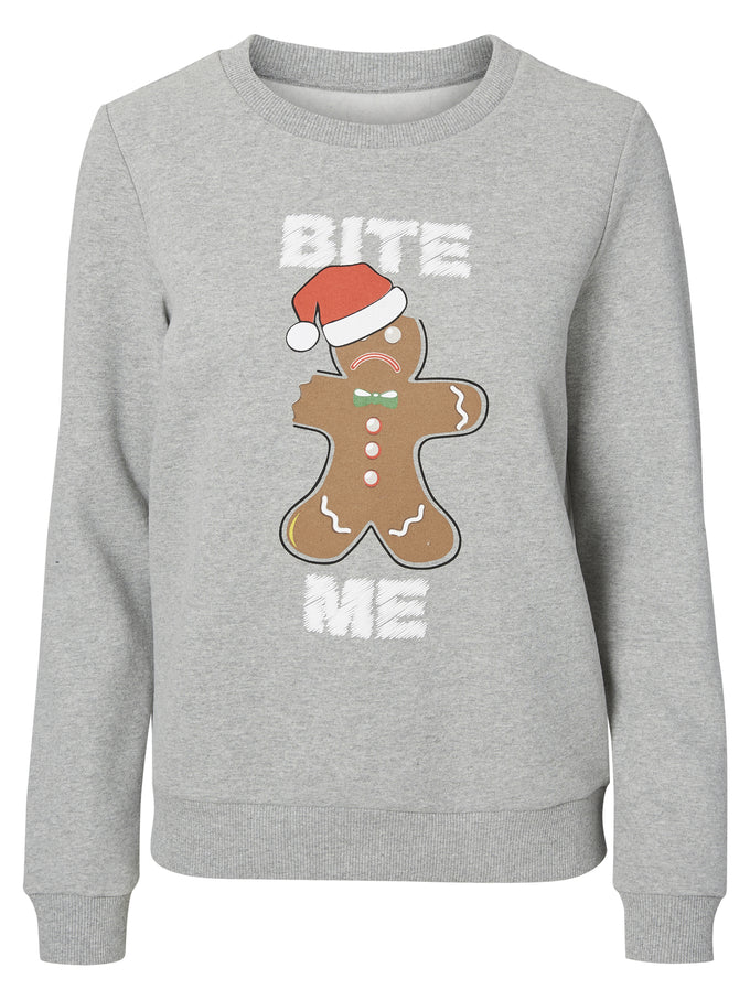 CHRISTMAS SWEATSHIRT LIGHT GREY MELANGE CAKE