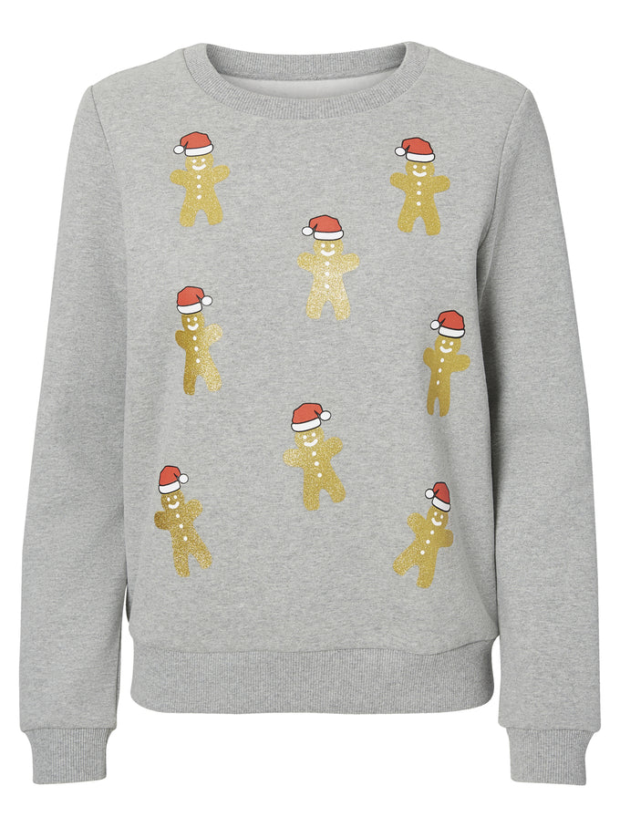 CHRISTMAS SWEATSHIRT LIGHT GREY MELANGE