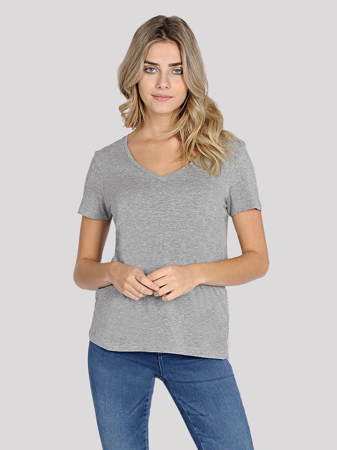 NEW VMJOY COTTON T-SHIRT LIGHT GREY MELANGE