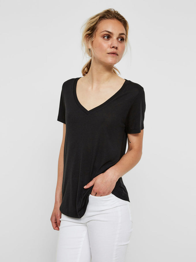 NEW VMJOY COTTON T-SHIRT BLACK