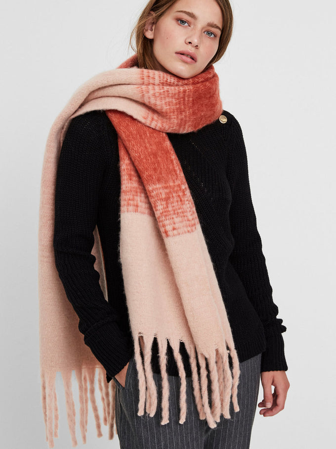 FOULARD LONG BROSSÉ ROSE
