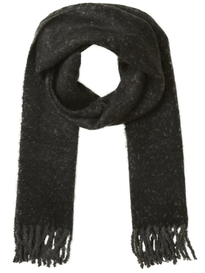 TEXTURED LONG SCARF BLACK