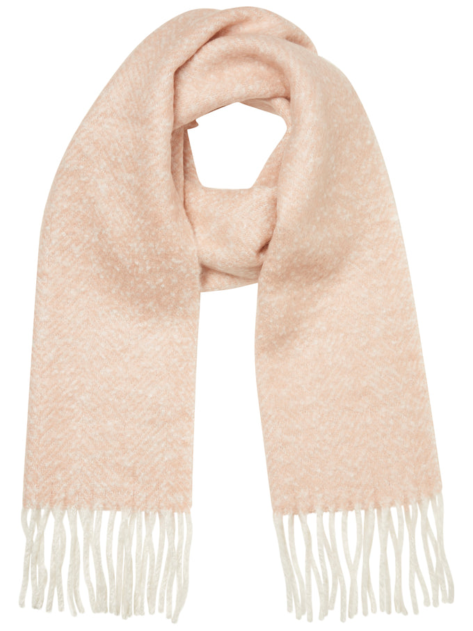FOULARD LONG TEXTURÉ ROSE