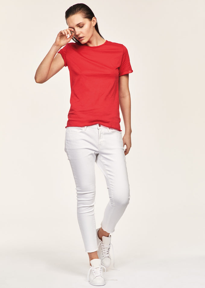 T-SHIRT 100% COTON VM/MM ROUGE BRIQUE