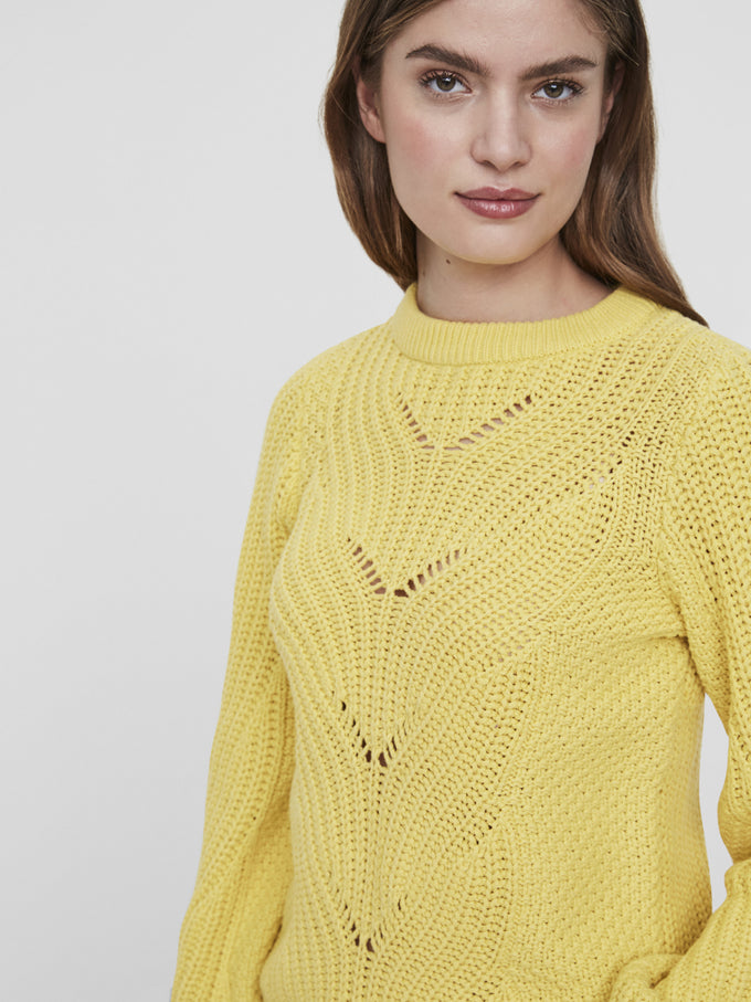 COLORFUL SWEATER CREAM GOLD