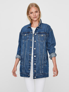 LONG LOOSE DENIM JACKET