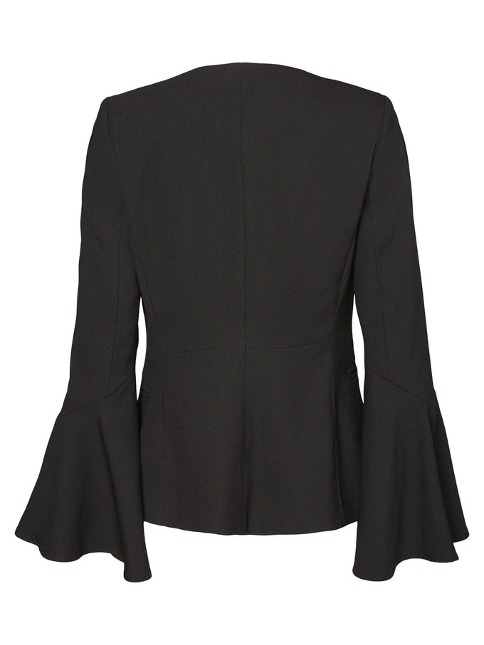 BELL SLEEVE BLAZER BLACK