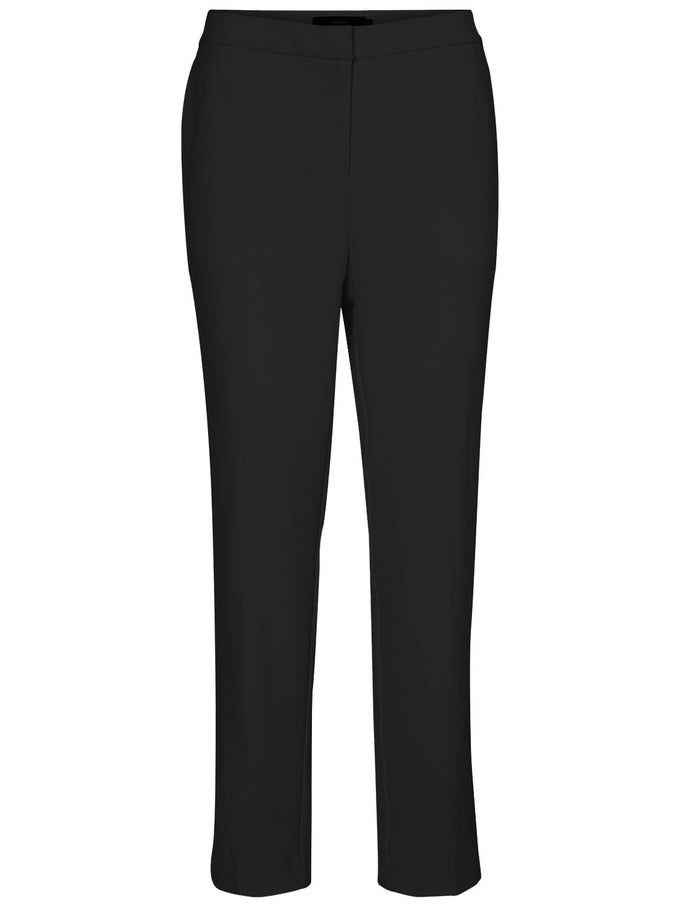 SLIM FIT CREPE DRESS PANTS BLACK