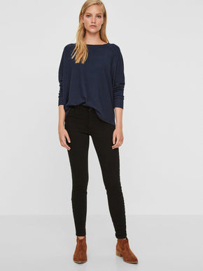 VMICON PUSH-UP SKINNY BLACK JEANS