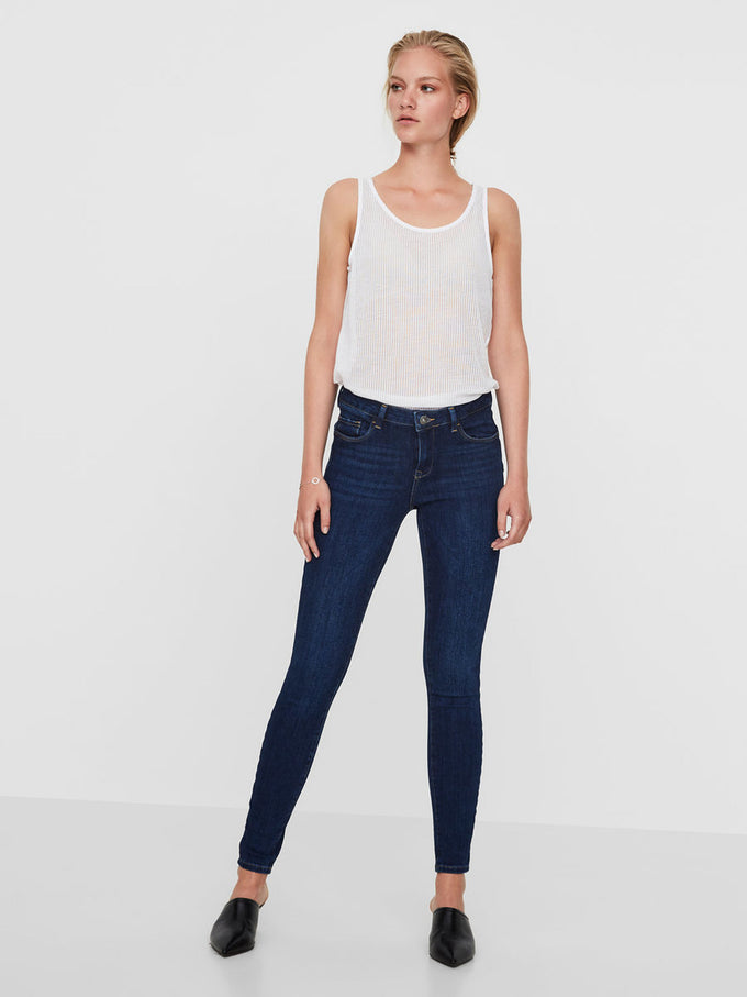 VMICON PUSH-UP SKINNY DARK JEANS DARK BLUE DENIM