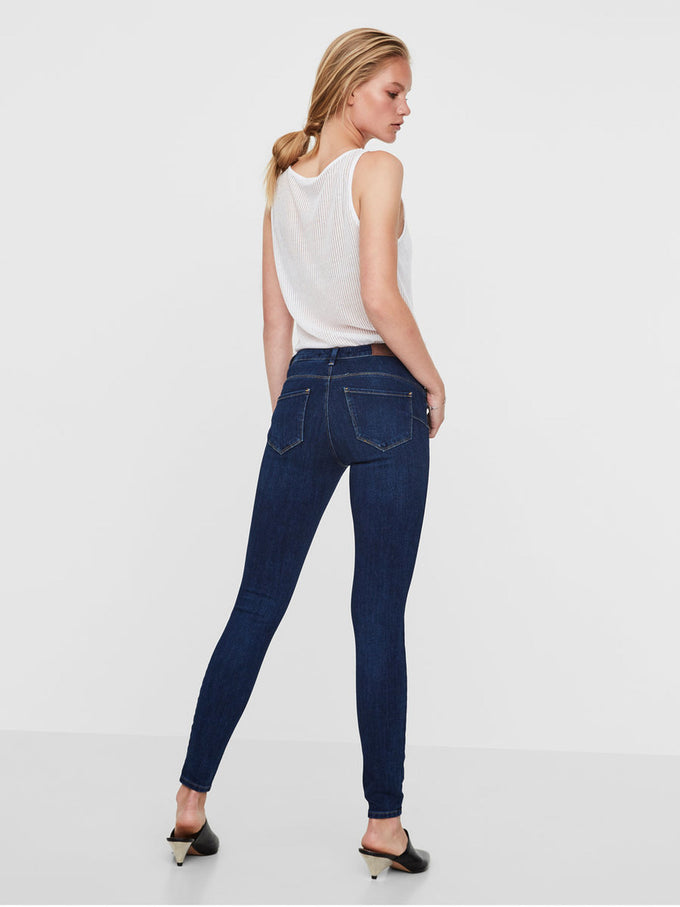 JEANS À COUPE SKINNY VMICON PUSH-UP FONCÉ BLEU DENIM