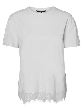 T-SHIRT WITH SCALLOPED HEMLINE