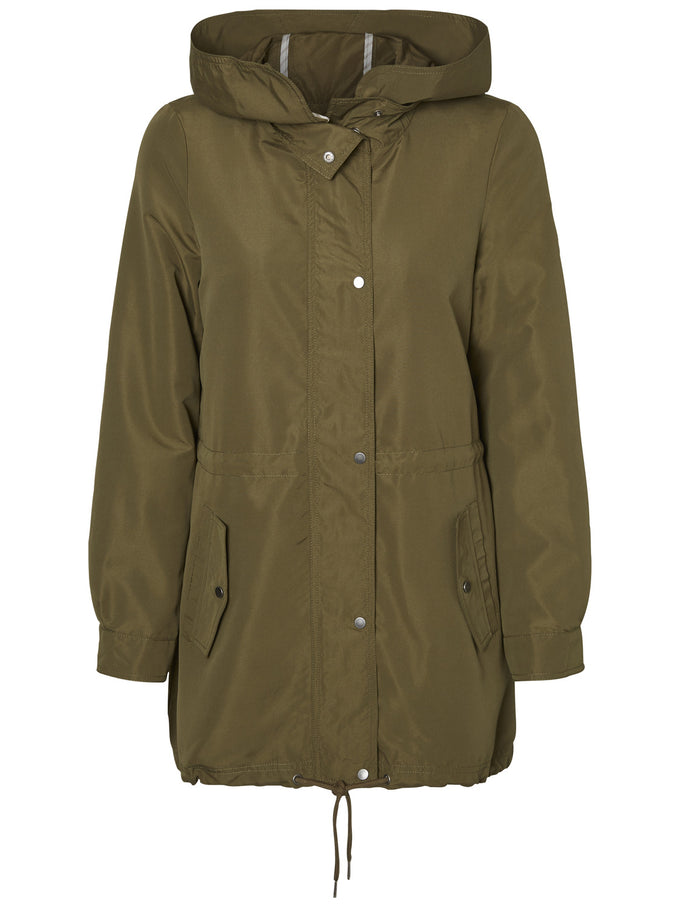 HIGH-LOW SPRING PARKA IVY GREEN