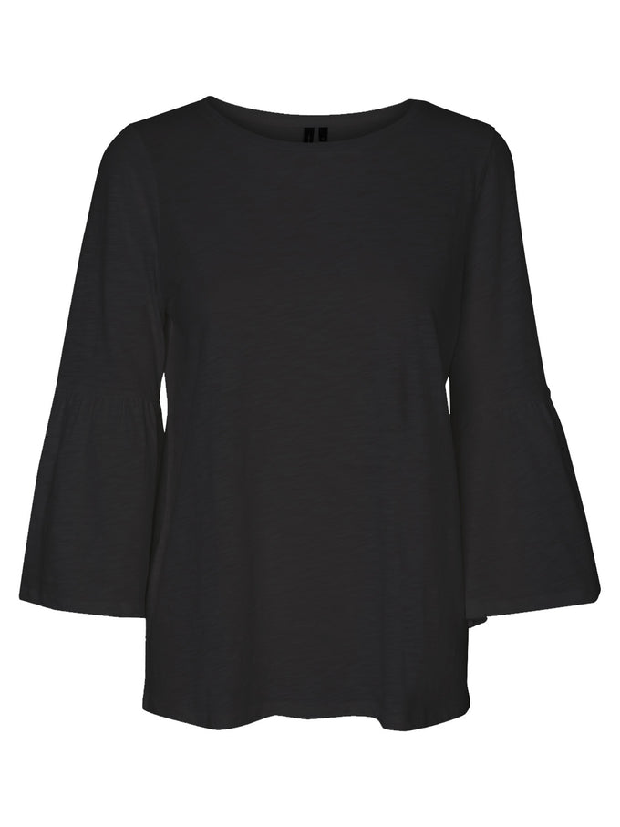 BELL SLEEVE T-SHIRT BLACK