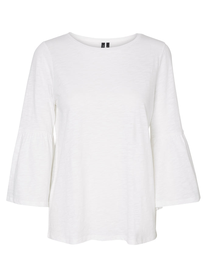 BELL SLEEVE T-SHIRT SNOW WHITE