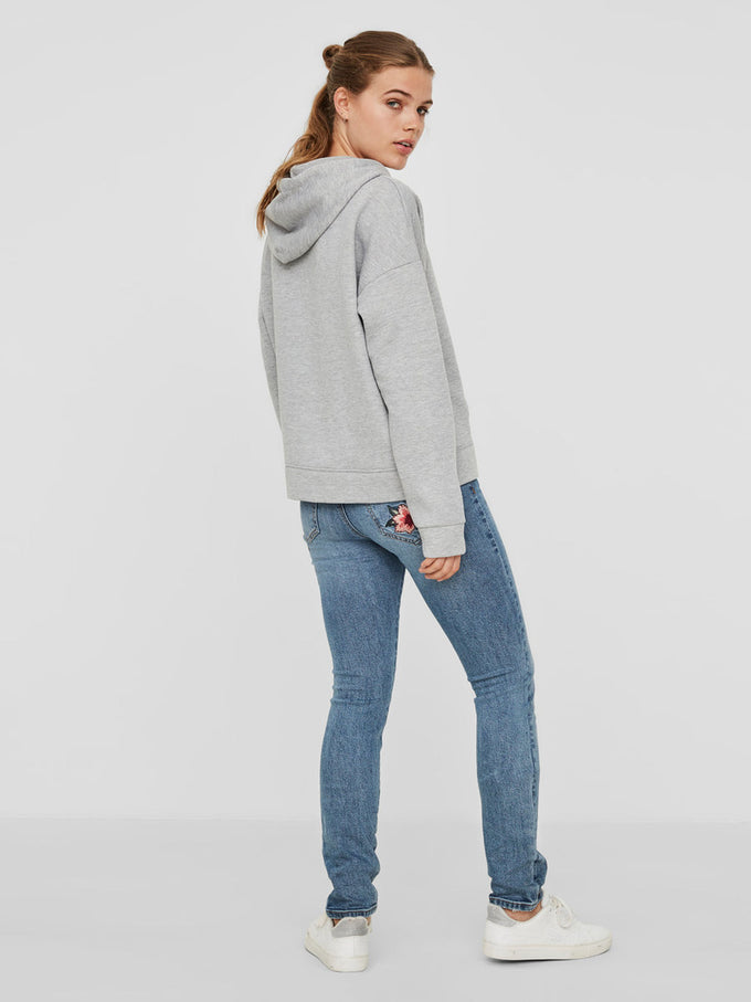 CASUAL HOODIE LIGHT GREY MELANGE