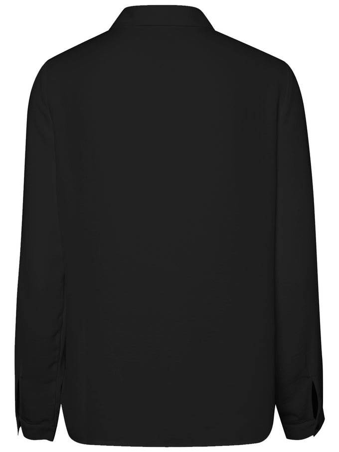 BLOUSE WITH CLASSIC COLLAR BLACK