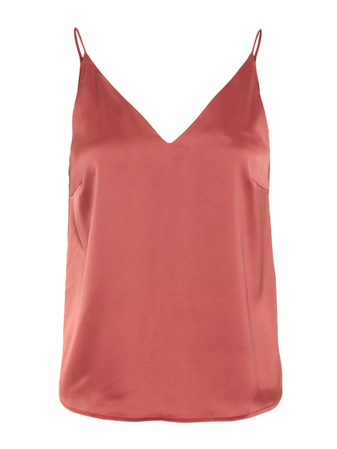 CAMISOLE SATIN AWARE ROUGE VIN