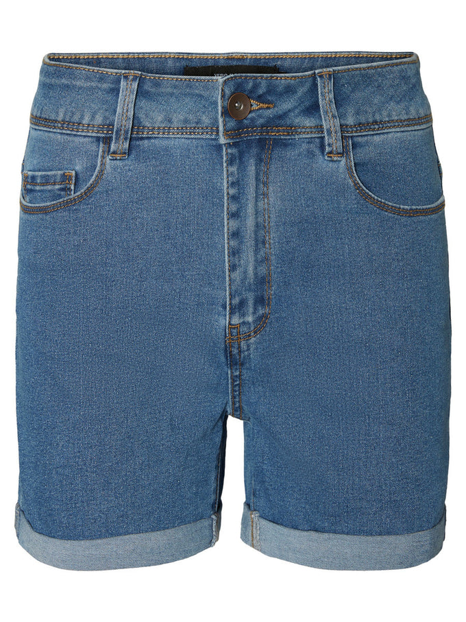 Hot Seven mid-waist denim shorts MEDIUM BLUE DENIM